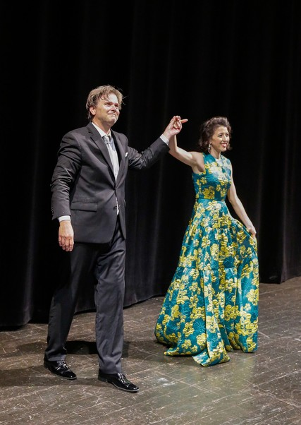 Lisette Oropesa and Christopher Franklin
