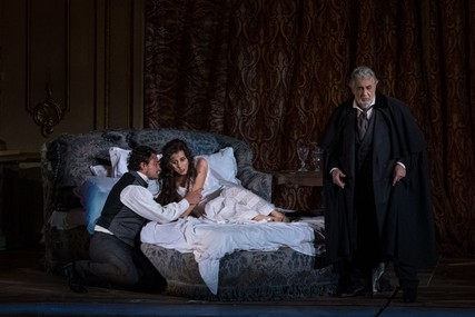 Lisette Oropesa, Vittorio Grigolo and Placido Domingo