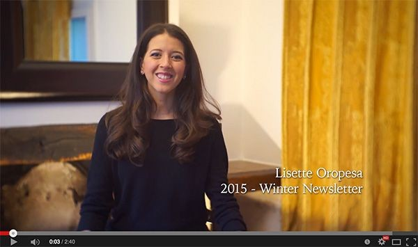 Lisette Oropesa in Paris for her 2015 Winter Newsletter
