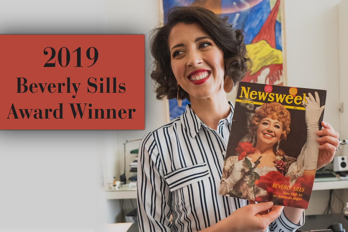 Lisette Oropesa is the winner of the 2019 Beverly Sills Award