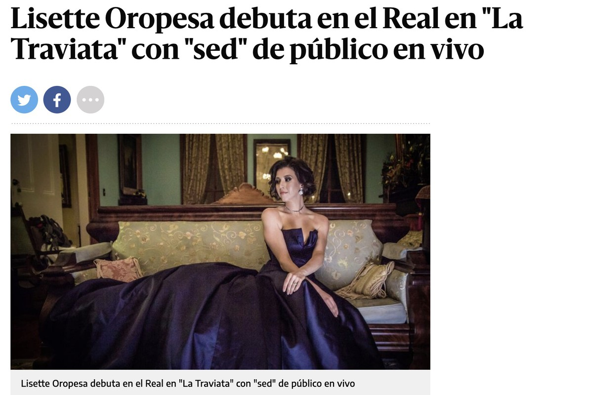 Lisette is interviewed in El Diario for her upcoming performances of La traviata at the Teatro Real in Madrid