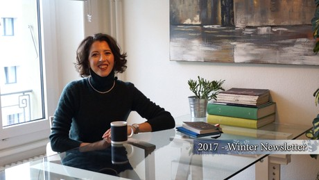 Lisette Oropesa in her 2017 Winter Newsletter