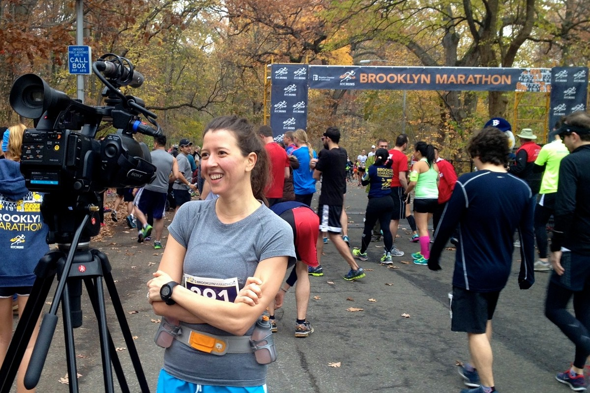 Lisette Oropesa after running a marathon