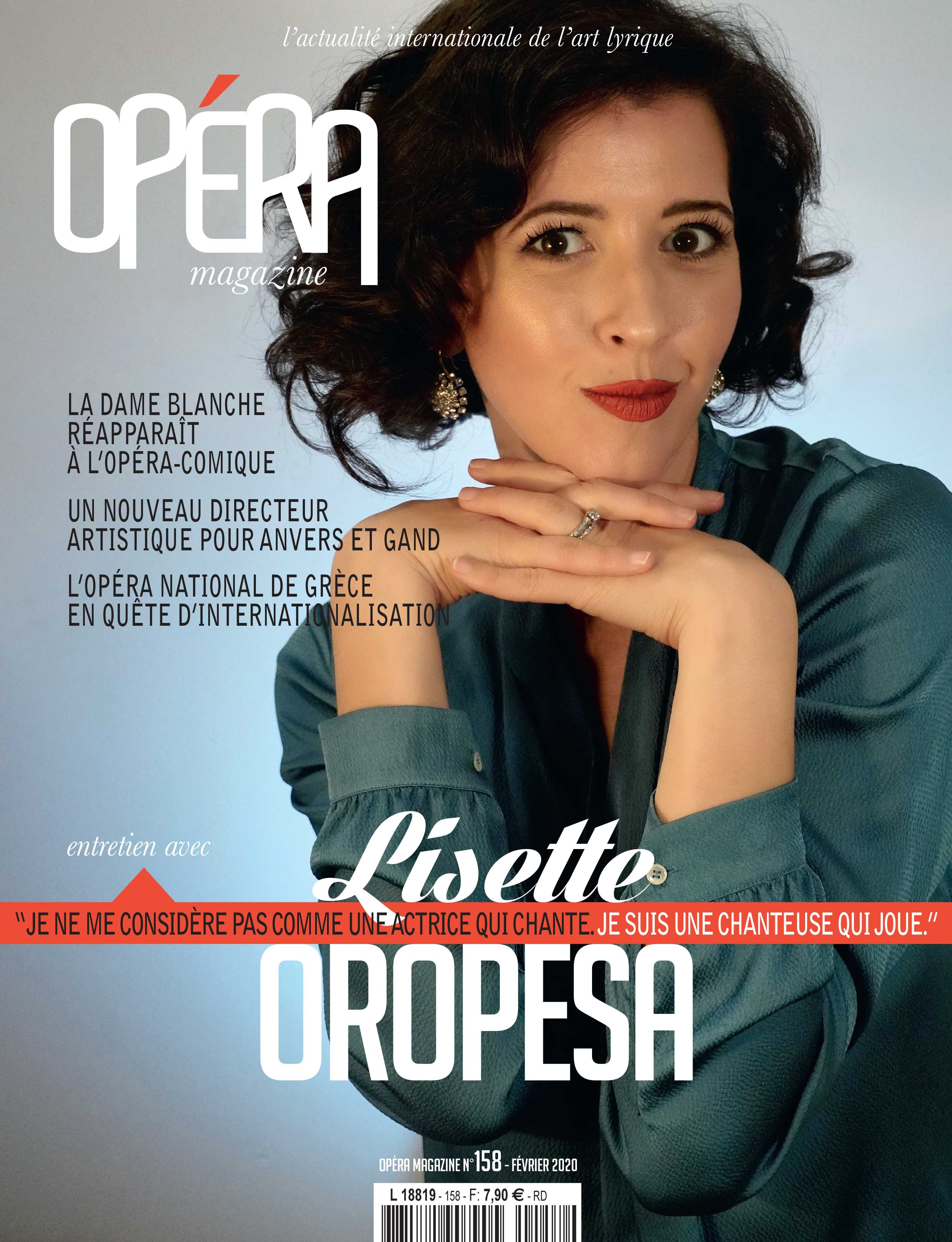 Lisette Oropesa on the cover of Opéra Magazine for February 2020