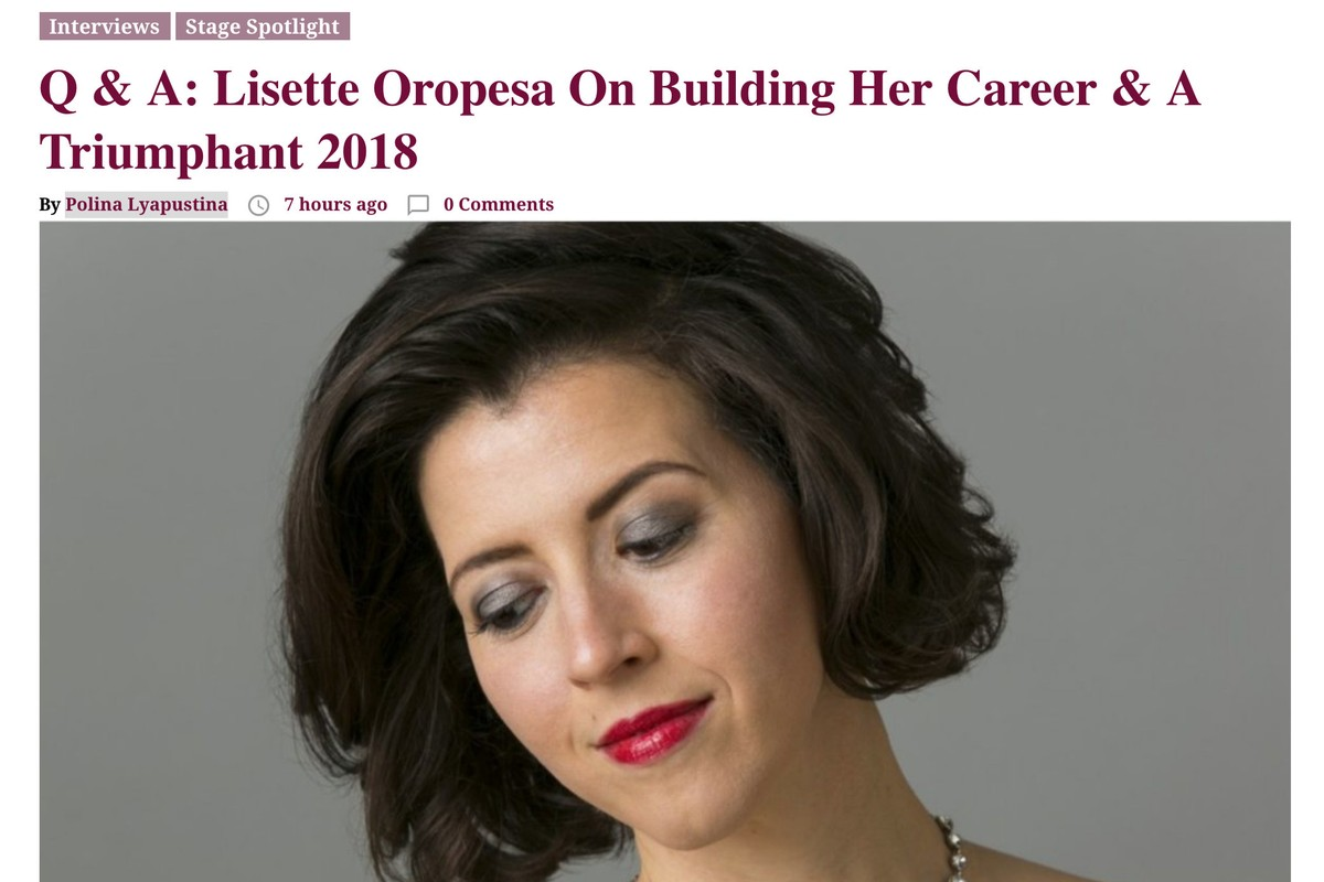 Lisette Oropesa interviewed in Opera Wire