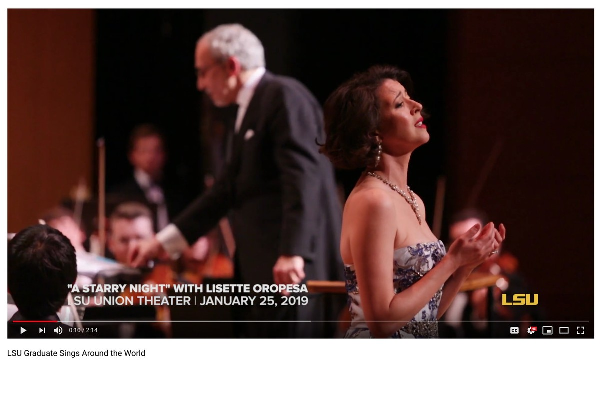LSU Graduate Lisette Oropesa sings around the world.