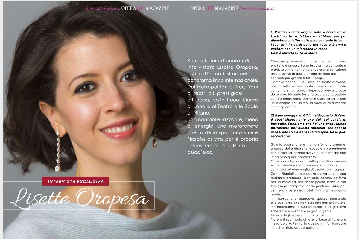 Lisette is interviewed in Opera Life Magazine in their November 2019 issue.