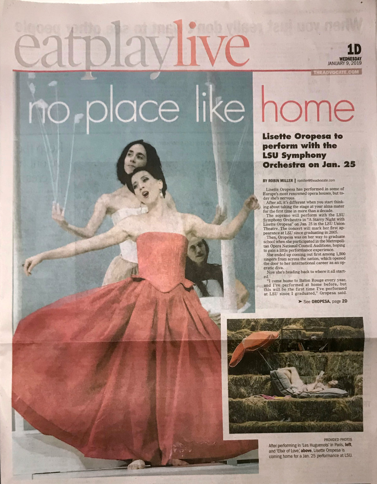 Lisette Oropesa in the Advocate, January 9, 2019